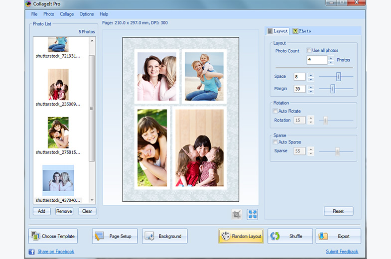 customize collage layout