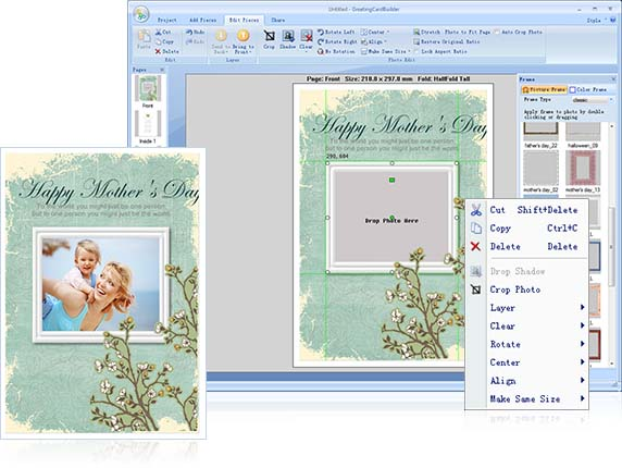 Greeting card software greeting card maker photo greeting card the great card creator is equipped with agile editing tools to arrange layout manage light and colorapply masks filters and photo effects m4hsunfo