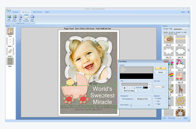 Greeting card software greeting card maker photo greeting card greeting card builder screenshot m4hsunfo Gallery