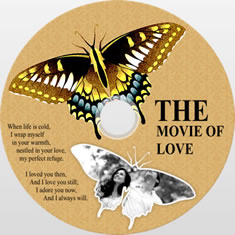 disk cover template of butterfly design