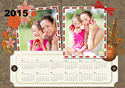 yearly printable photo calendar