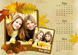 2014 autumn photo calendar template