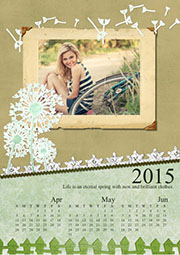 2014 summer photo calendar template
