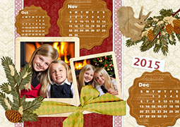 2014 winter photo calendar template