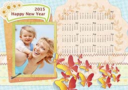 new year photo calendar template