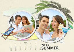 beautiful printable photo calendar of summer