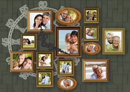 photo collage template of the important life journey