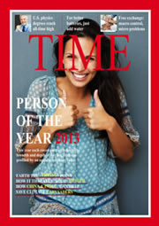 photo collage template of TIME magazine