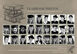classic photo collage template of yearbook