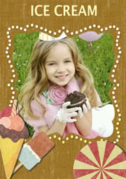 ice cream picture frame collage template