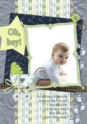 lovely baby boby greeting card