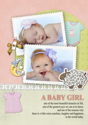 printable greeting card for newly born baby girl