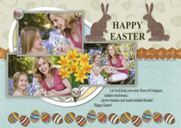 custom Easter greeting cards
