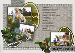 custom Easter greeting card template