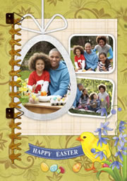personalized portrait Easter greeting cards