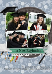 custom graduation invites and greeting card