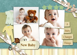 greeting card template for new baby