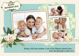 greeting card template for great Mother's Day