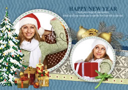 happy new year greeting cards for family