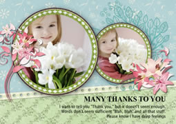 custom thank you greeting card