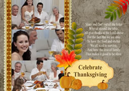 personalized Thanksgiving card template