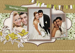 marriage greetings card template