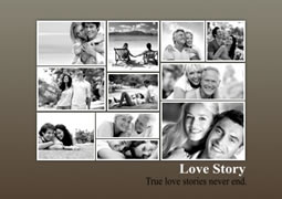 black and white layout photo collage template