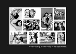 black and white layout collage template