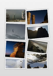 Make your own collage from the digital travel photos
