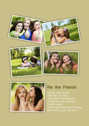 simple collage layout for friendship