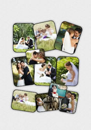 fabulous piled picture collage layout for wedding day