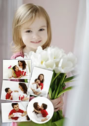 custom photo frame layout template