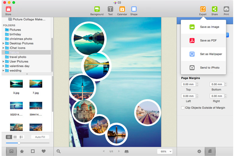 Choose a photo collage template from the deluxe  ones