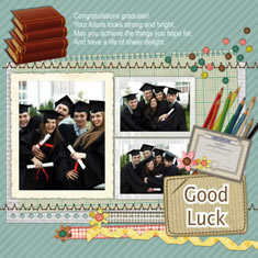 graduation scrapbook template