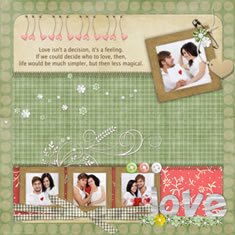 love photo scrapbook