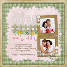 valentine photo scrapbook template