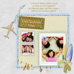 printable scrapbook template for cool summer time