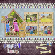 puppy scrapbook album template