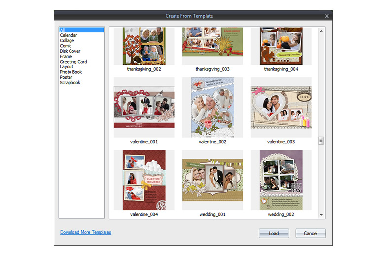 Tons of stunning collage templates get you started easily