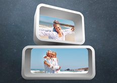 3D photo wall template