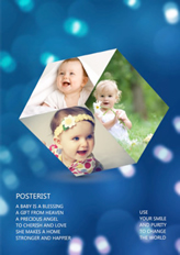 3D lumiere blue template