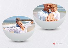 3D bowl-shaped template