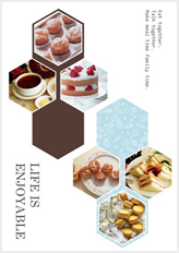 stylish poster template with hexagonal frames