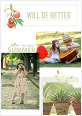 summer time template with cherries