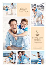 leisure time template in portrait