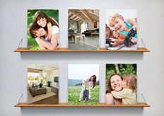 photos on board poster template