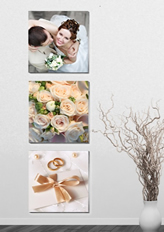 simple photo wall template with vase & branches
