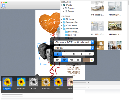 how to create a poster using mac