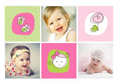 cute newborn baby template