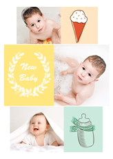 newborn baby template in portrait